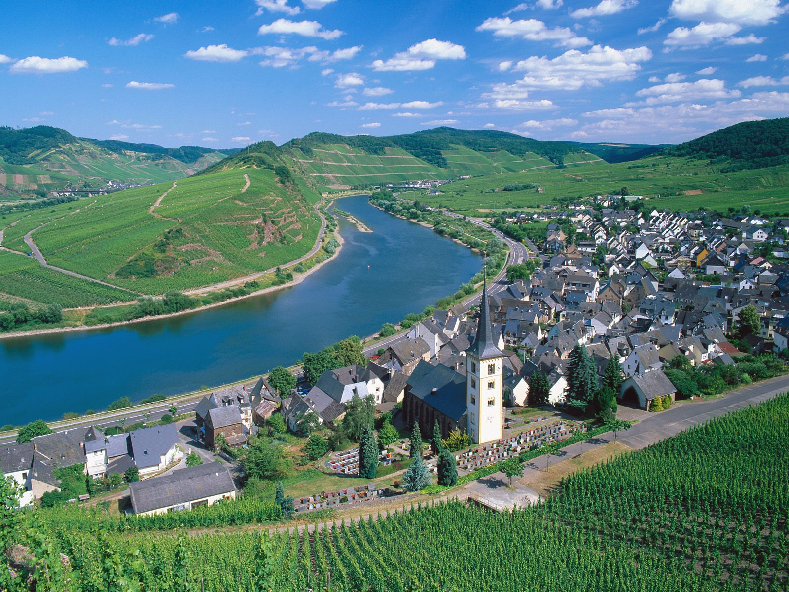 City of Bremm and Moselle River