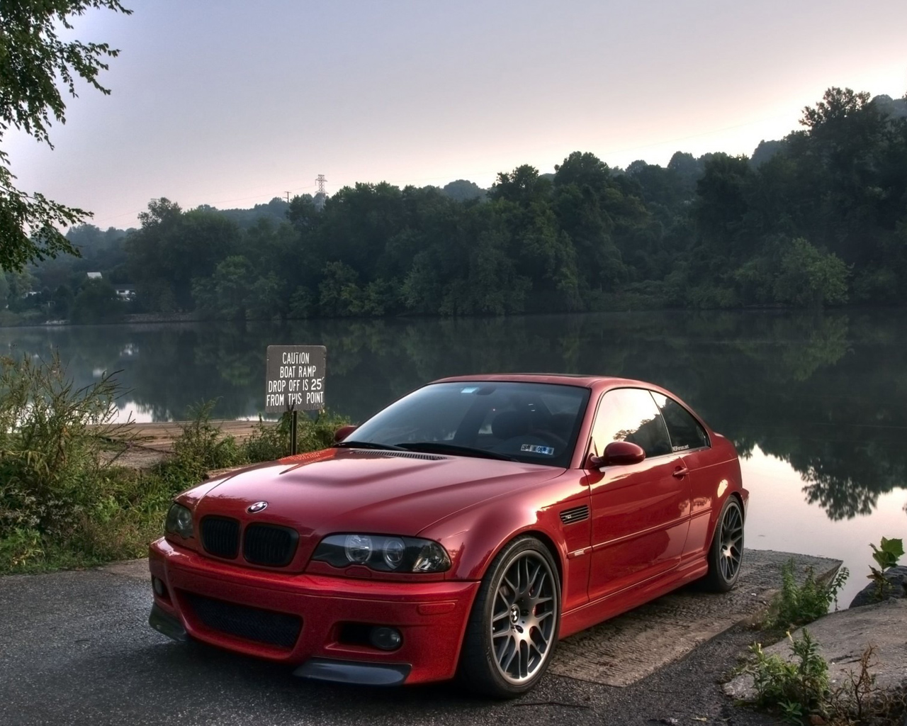 Red BMW 3 Series