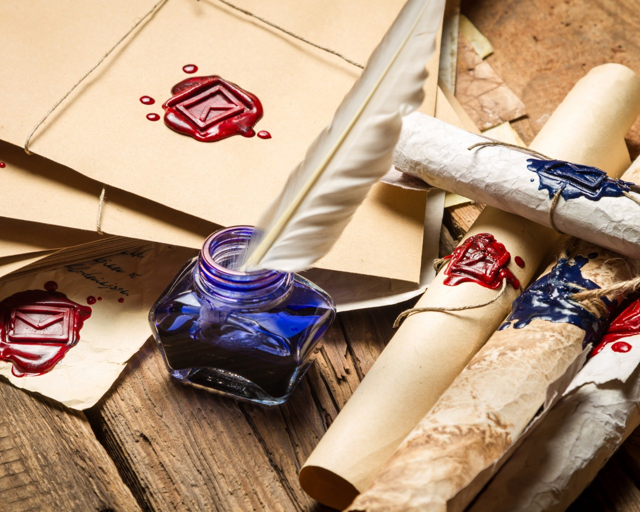 Ink and Parchment Scrolls