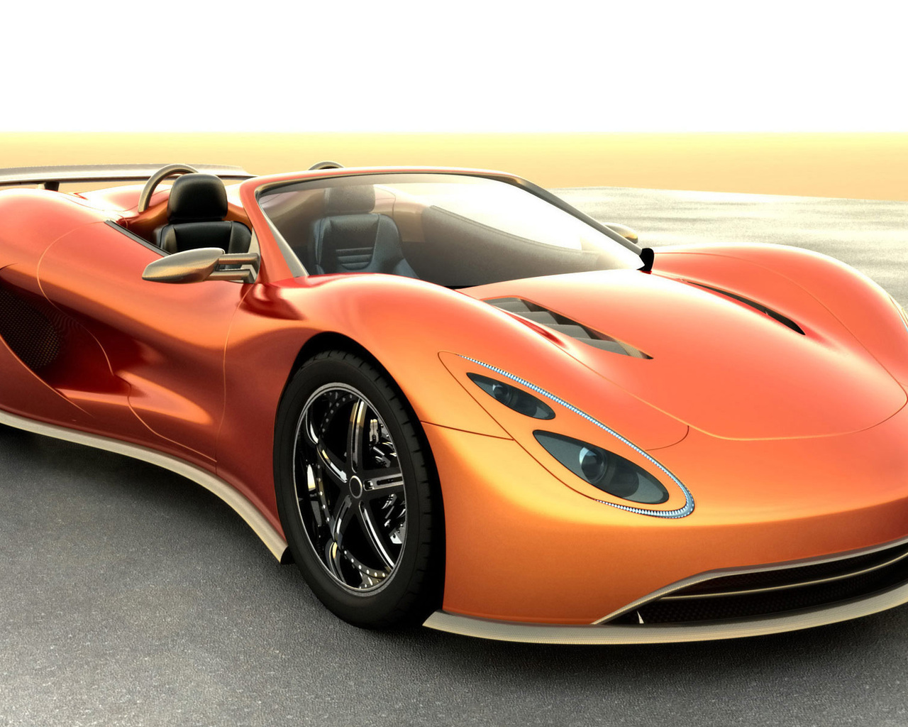 Orange Scorpion Sport Car