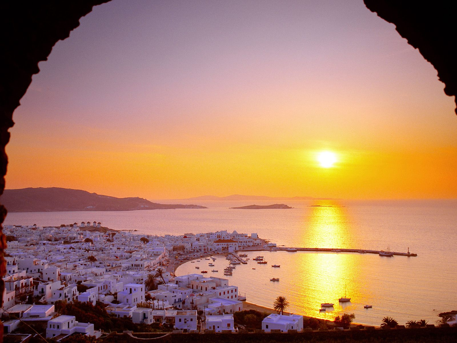 The Cyclades Islands at Sundown
