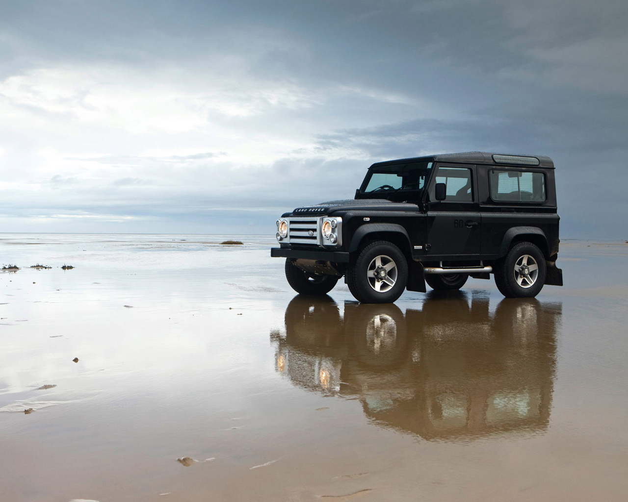 Land Rover on the beach