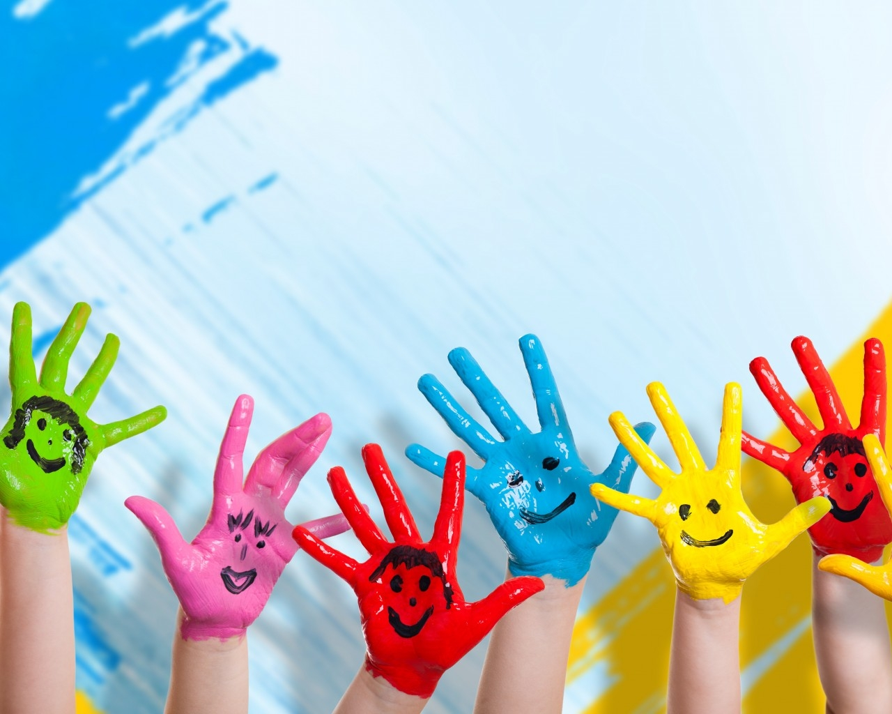 Colorful Happy Hands