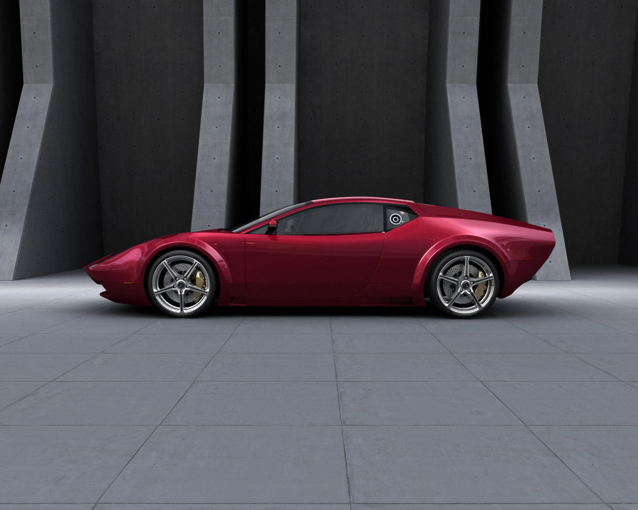 Panthera Concept Maroon Color