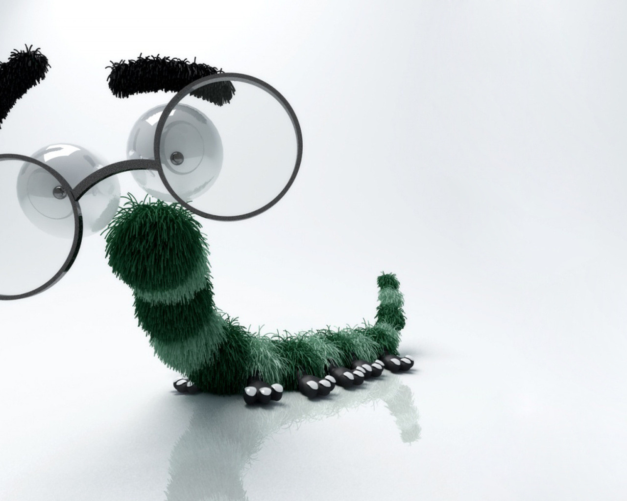 Caterpillar with Glasses