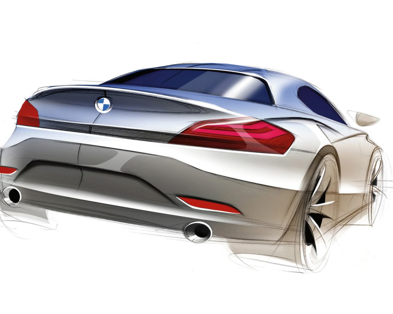 BMW Z4 Roadster Sketch
