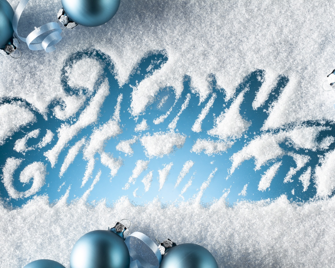 Merry Christmas Written in the Snow