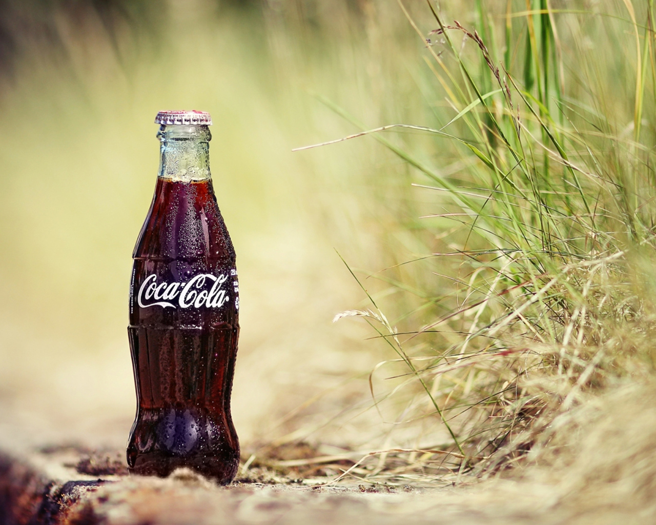 Fresh CocaCola bottle