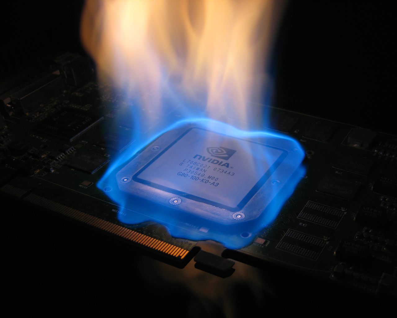 NVidia chipset on fire