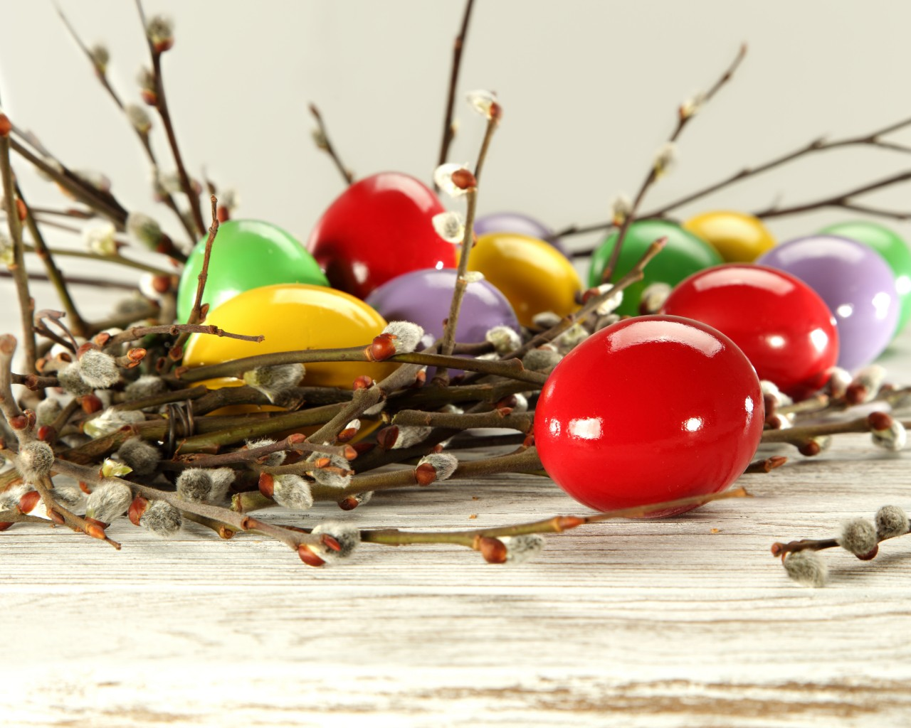 Easter Eggs and Willow Twigs