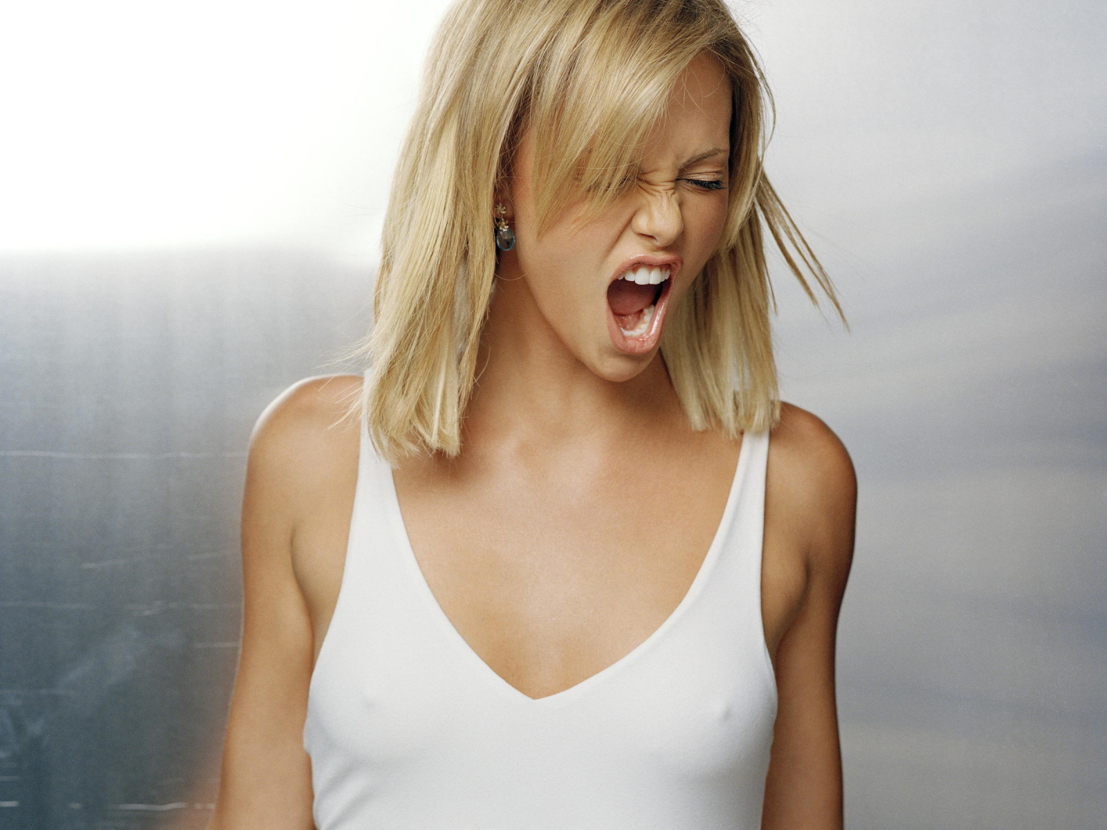 Charlize Theron Screaming